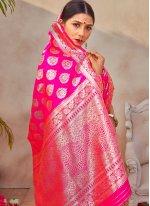 Art Silk Pink Traditional Designer Saree