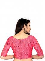 Art Silk Printed Blouse in Pink