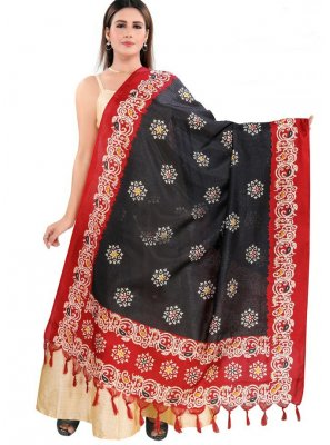 Art Silk Printed Designer Dupatta in Multi Colour