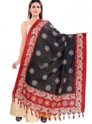 Art Silk Printed Designer Dupatta in Multi Colour
