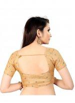 Art Silk Printed Gold Blouse