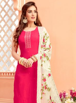 Art Silk Rani Fancy Designer Suit