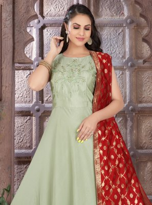Art Silk Sangeet Readymade Suit