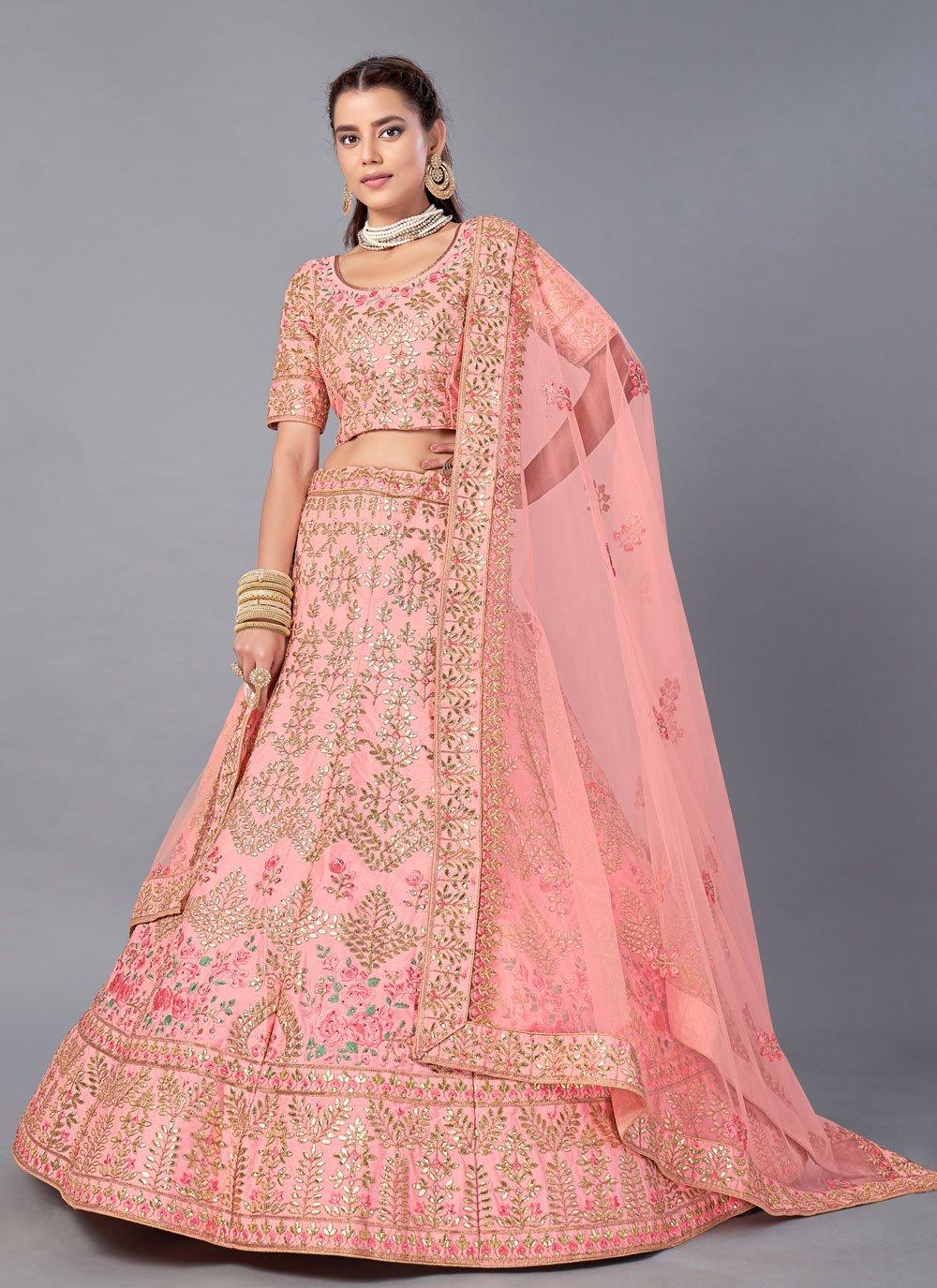 Art Silk Trendy Lehenga Choli in Pink