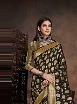 Art Silk Weaving Black Traditional Designer Saree