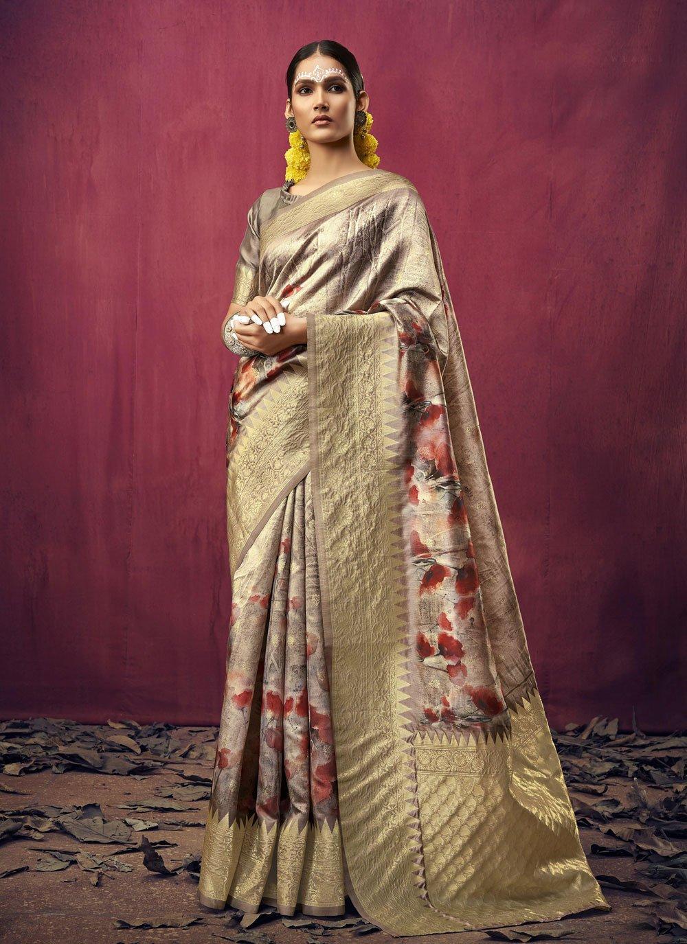 Art Silk Weaving Multi Colour Designer Traditional Saree