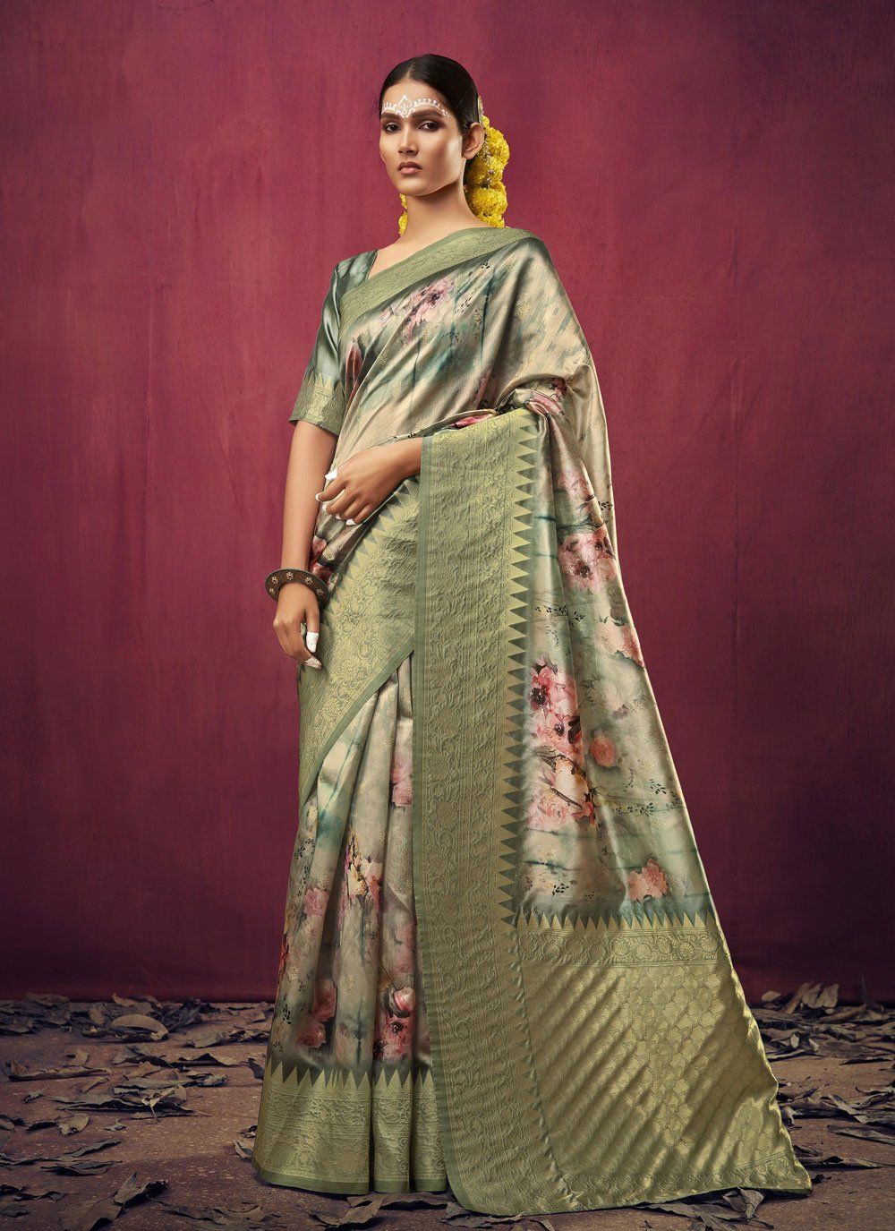 Art Silk Weaving Multi Colour Traditional Designer Saree