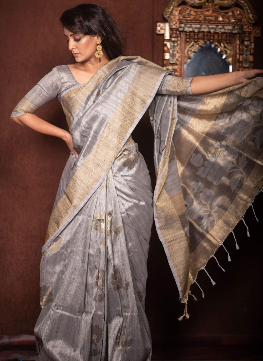 Art Silk Woven Traditional Designer Saree