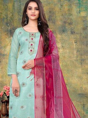 Banarasi Jacquard Festival Pant Style Suit