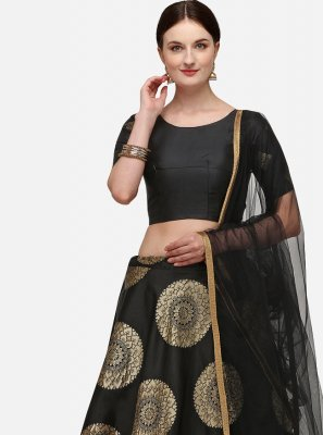 Banarasi Silk Black Fancy Lehenga Choli