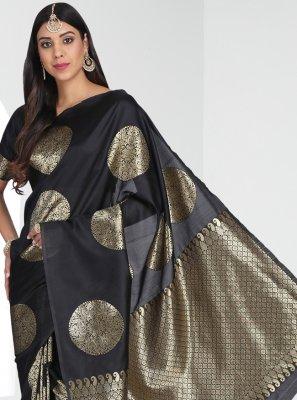 Banarasi Silk Black Traditional Saree