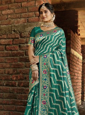 Banarasi Silk Ceremonial Traditional Designer Saree