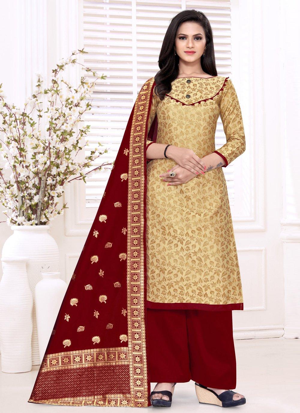Banarasi Silk Designer Palazzo Suit