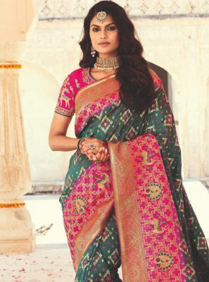 Banarasi Silk Designer Saree in Green