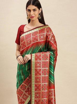 Banarasi Silk Designer Traditional Saree in Green