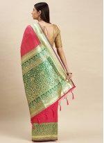Banarasi Silk Designer Traditional Saree in Pink