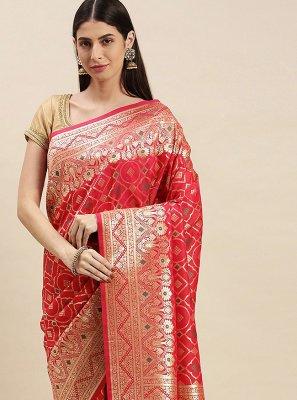 Banarasi Silk Designer Traditional Saree in Red