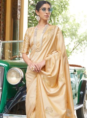 Banarasi Silk Fancy Designer Traditional Saree in Gold