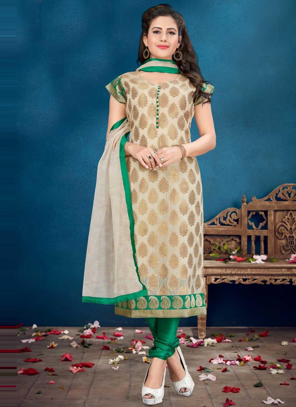 Banarasi Silk Fancy Readymade Suit