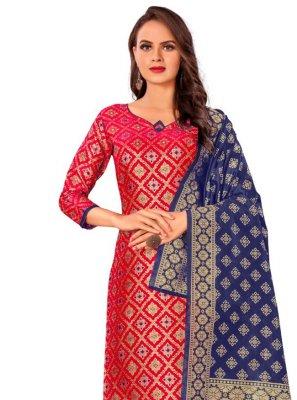 Banarasi Silk Pant Style Suit