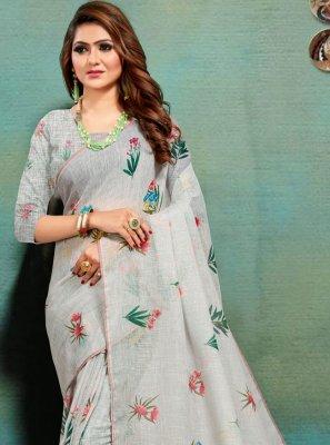 Banarasi Silk Print Multi Colour Traditional Designer Saree