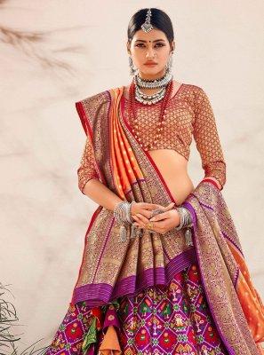 Banarasi Silk Purple Lehenga Choli