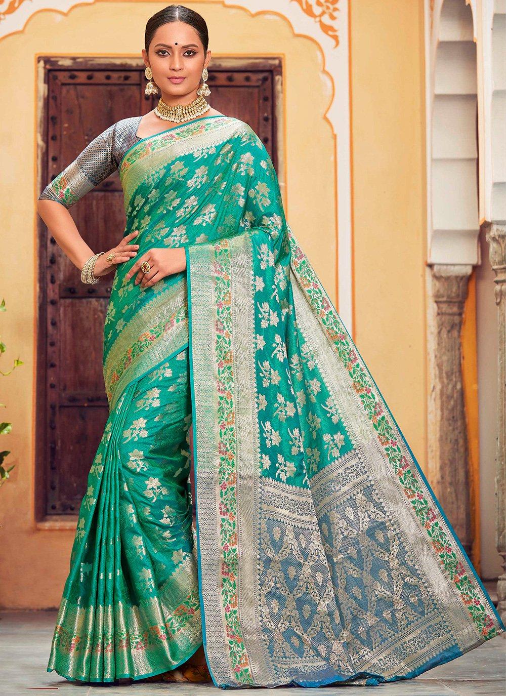 Banarasi Silk Rama Classic Saree