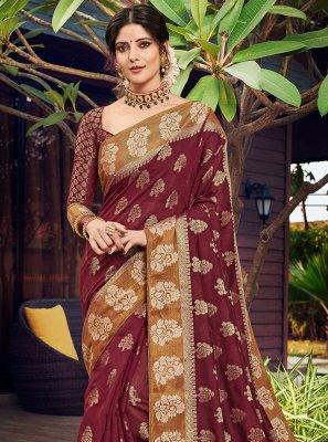 Banarasi Silk Sangeet Designer Traditional Saree