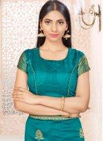 Banarasi Silk Sea Green Traditional Designer Saree