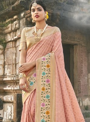 Banarasi Silk Traditional Designer Saree in Pink