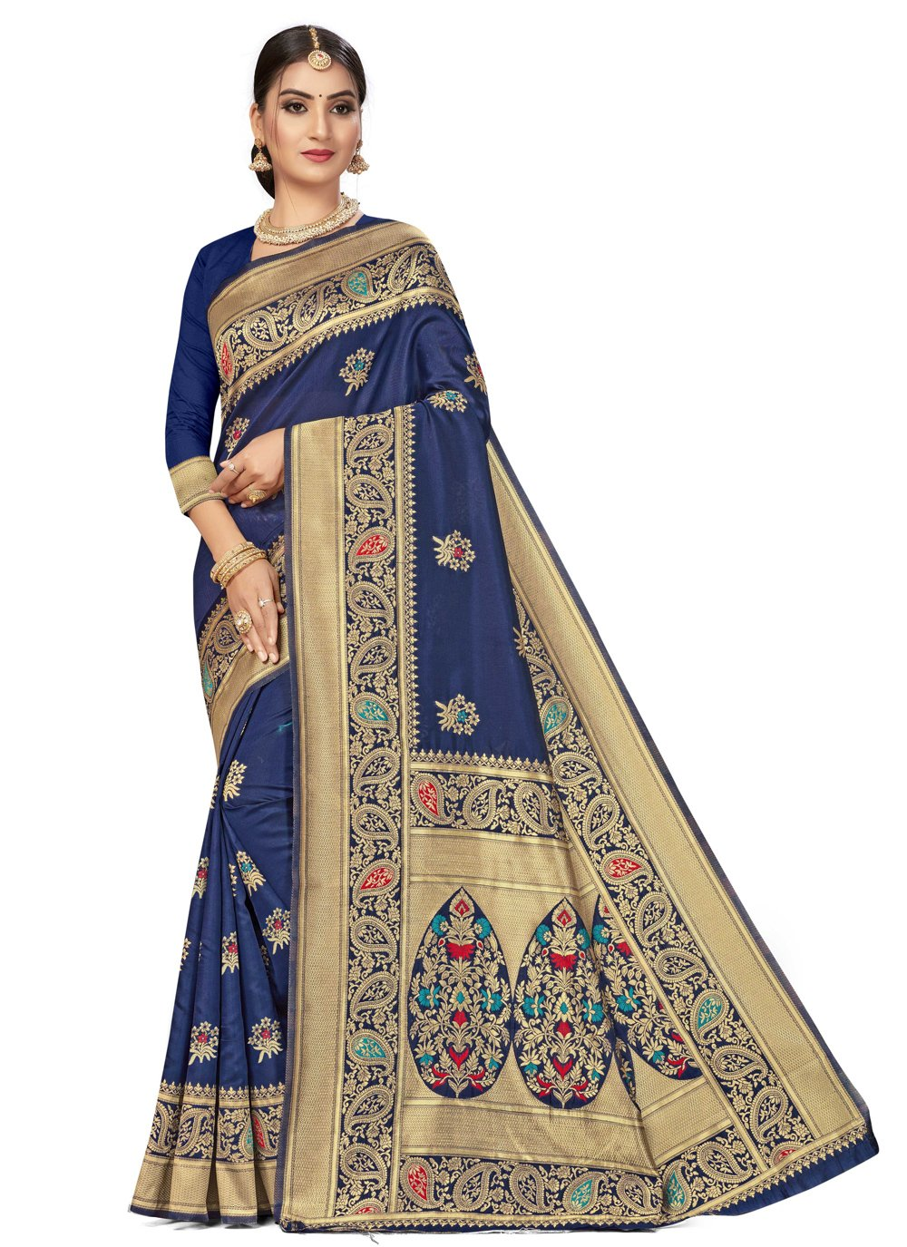 Banarasi Silk Traditional Saree in Blue