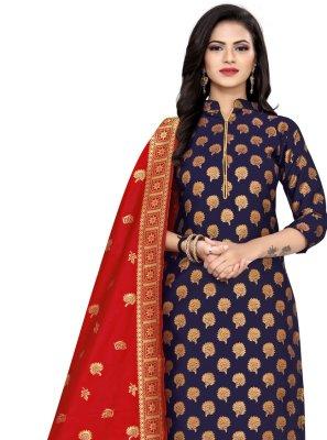 Banarasi Silk Weaving Churidar Suit