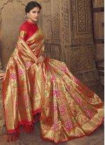 Banarasi Silk Weaving Multi Colour Designer Traditional Saree