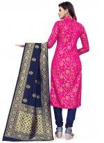 Banarasi Silk Weaving Rani Churidar Salwar Suit