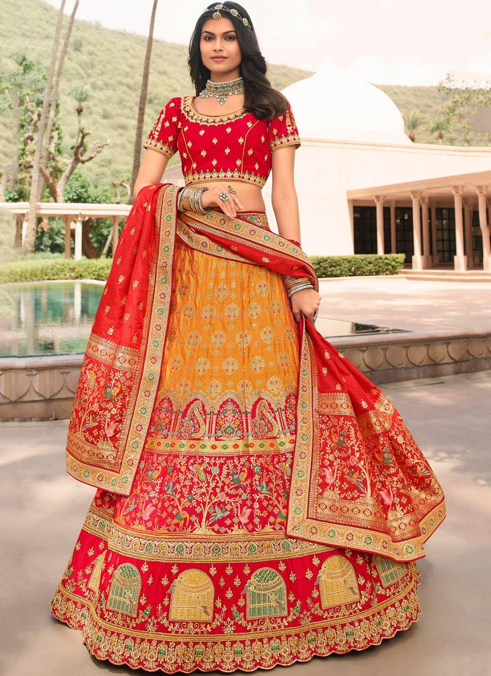 Banarasi Silk Wedding Trendy Lehenga Choli