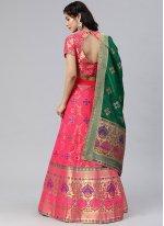 Banarasi Silk Woven A Line Lehenga Choli