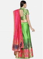 Banarasi Silk Woven Green Lehenga Choli