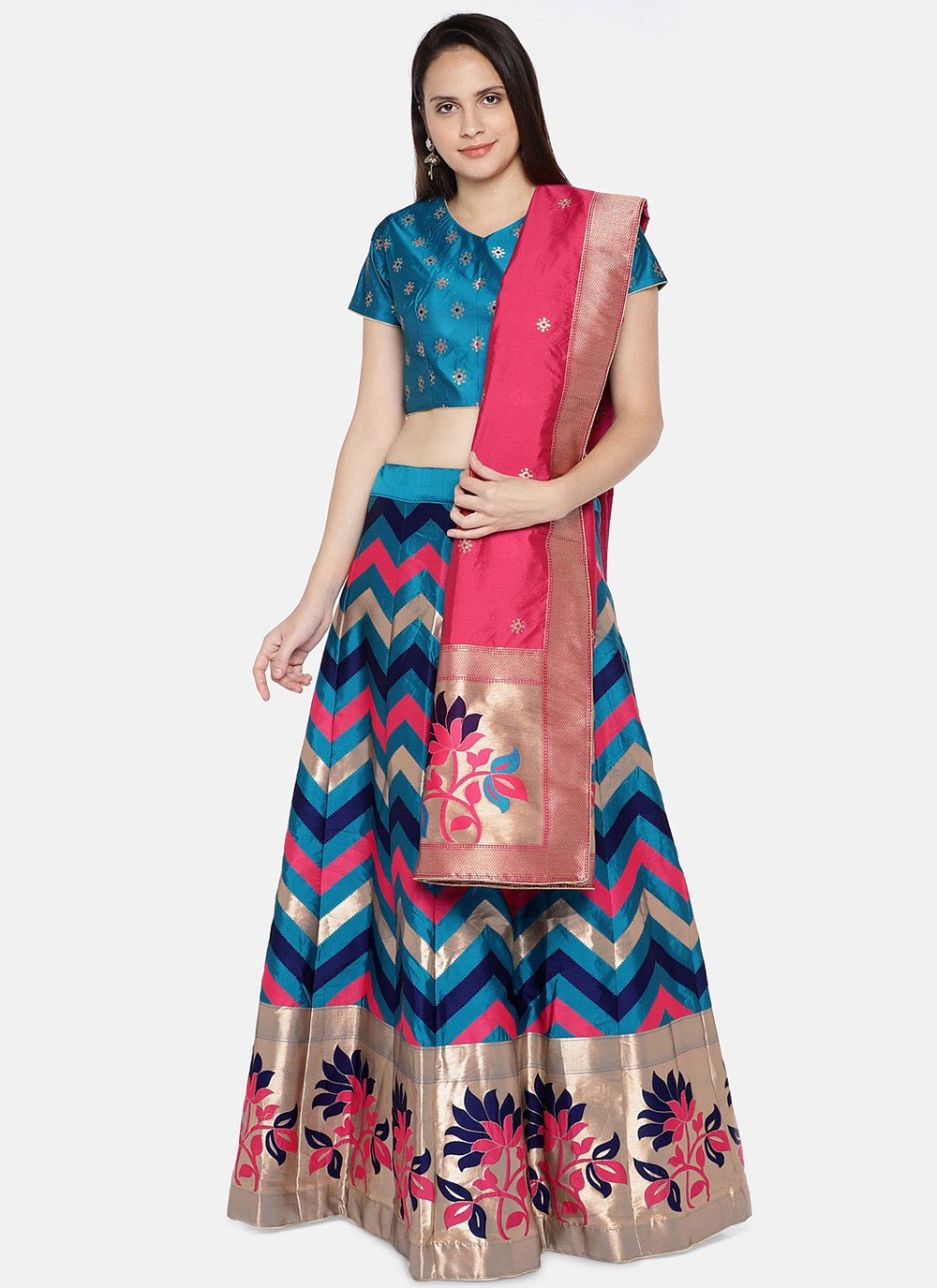 Banarasi Silk Woven Lehenga Choli