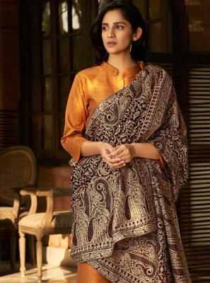 Banglori Silk Orange Embroidered Pant Style Suit