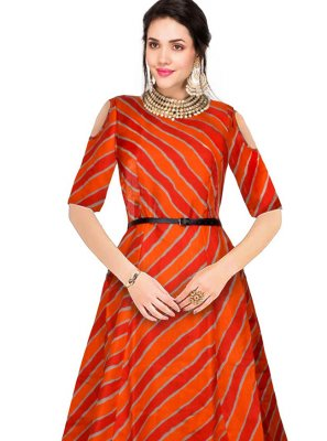 Banglori Silk Printed Party Wear Kurti