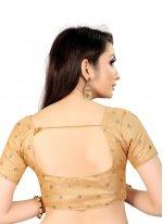 Beige Art Silk Printed Blouse