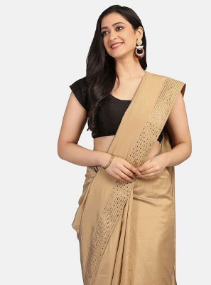 Beige Color Trendy Saree