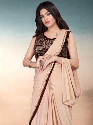 Beige Color Trendy Saree