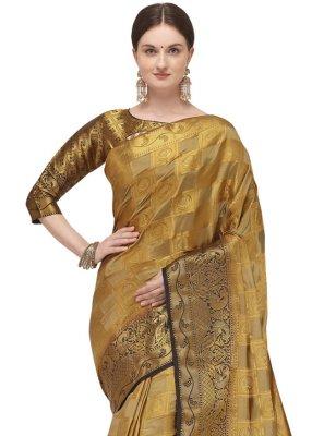 Beige Fancy Traditional Designer Saree