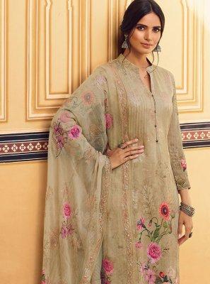 Beige Festival Designer Pakistani Salwar Suit