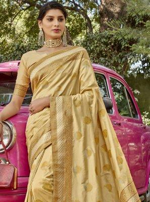 Beige Festival Designer Traditional Saree