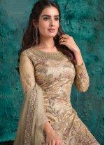 Beige Mehndi Designer Pakistani Suit