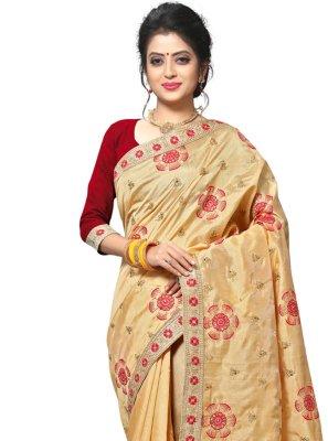 Beige Thread Classic Saree