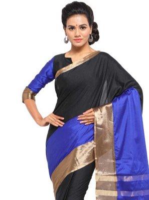 Black and Blue Festival Traditional Saree