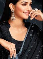 Black and Grey Shaded Saree